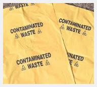 Contaminated waste bag