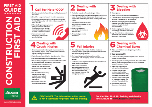First Aid Guide for Constructions