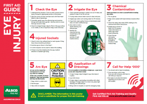 First Aid Guide for Eye Injury