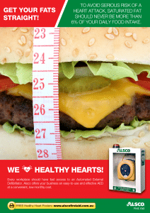 Healthy Heart Poster: Avoid Saturated Fat