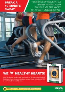 Healthy Heart Poster: Break the 10-Minute Sweat