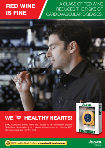 Heart Health Poster: Red Wine is Fine