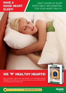 Healthy Heart Poster: Have a good sleep