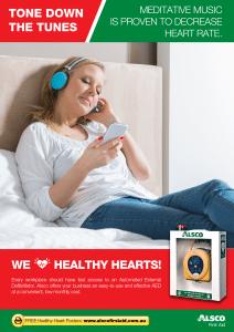 Heart Health Poster: Meditative Music to Decrease Heart Rate