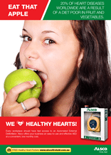 Heart Health Poster: Eat that Apple