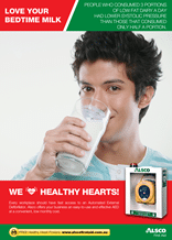 Healthy Heart Poster: Love your bed time milk