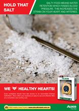 Heart Health Poster: Salt Raise Blood Pressure