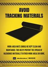 Keep work-area mats clean and maintained
