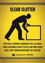 All areas should be clear from clutter