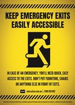 Make sure that emergency exits are easily accessible