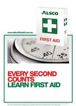 First Aid Poster Every Second Counts