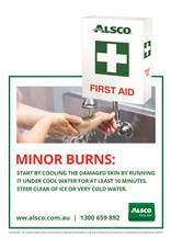 Minor burns first aid